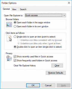 How to Open Folder Options in Windows 10