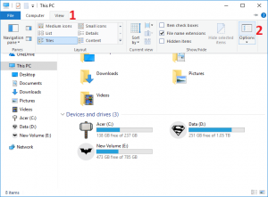 Enable or Disable Status Bar in File Explorer in Windows 10